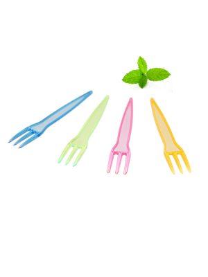 Traditionele frietvorkjes plastic, verschillende kleuren
