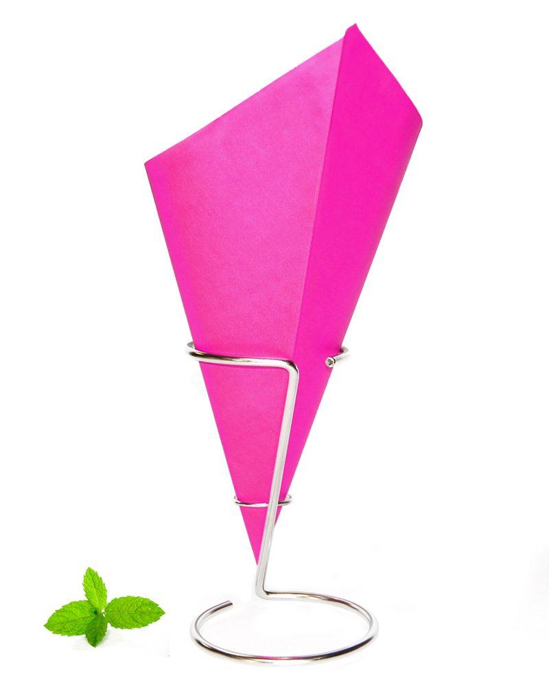 Frietzak Roze. papieren puntzak roze