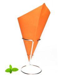 Frietzak Oranje, papier puntzak oranje van vetvrij papier
