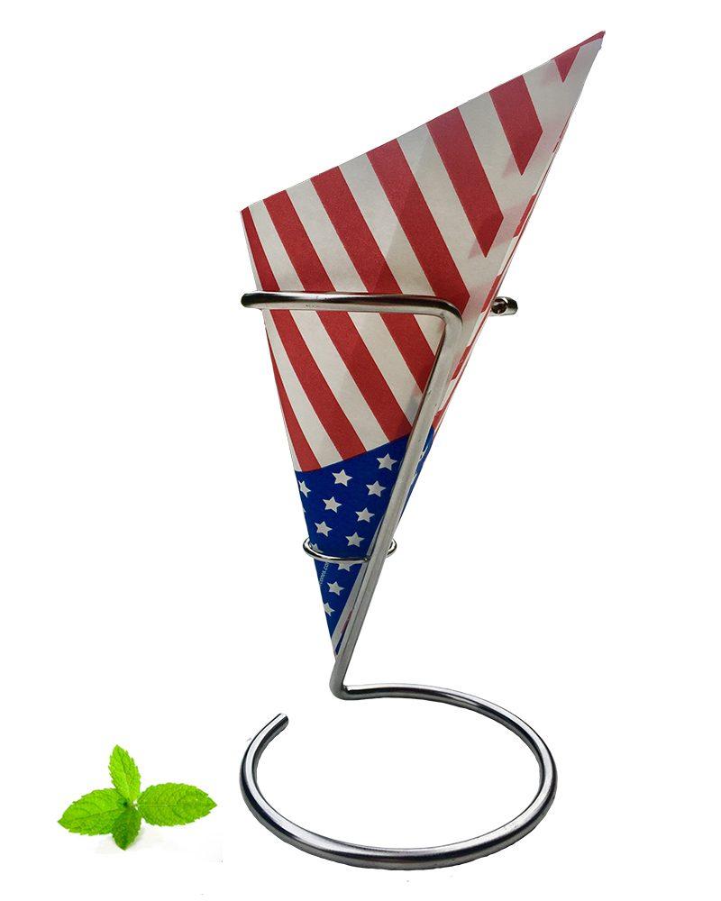 Puntzak Friet, frietzak van papier USA