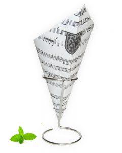 Puntzak muziek, frietzak met muziek noten