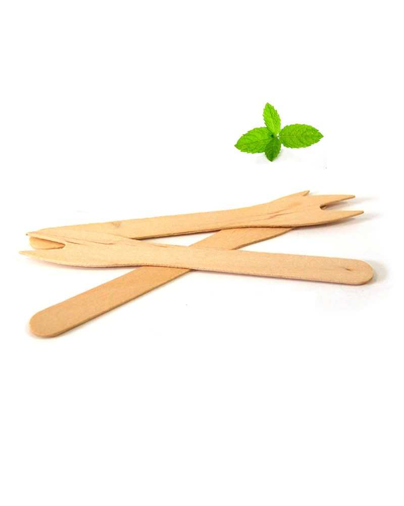 Frietvorkjes hout, snackvorkjes 12,1 cm