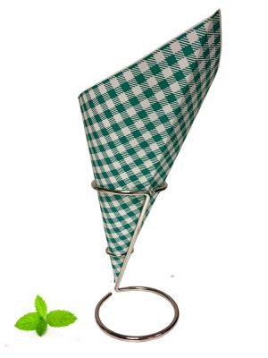 Puntzak groene ruit, papieren puntzak